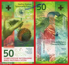 SUIZA SWITZERLAND SUISSE 50 Francs franchi 2016 Hybrid Pick NEW  SC /  UNC