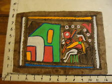 Marge O'Connell Painting: BRIGHT COLORS on BROWN HOME MADE PAPER #2