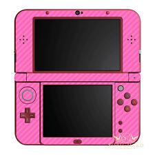 SopiGuard Pink Carbon Fiber Vinyl Skin Full Body For New 3DS XL LL