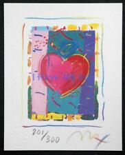 "PETER MAX-""HEART SERIES VI""-LIMITED ED. LITHOGRAPH SIGNED BY ARTIST-ART-PRINTS"