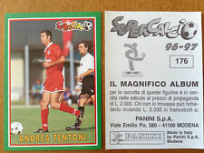 SUPERCALCIO 1996 1997 96 97 n 176 ANDREA TENTONI Figurina Sticker Panini NEW