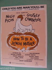 How to Be a Jewish Mother 1968 Child You Are Man You'll Be Molly Picon