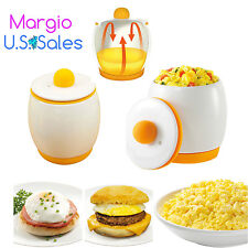 Egg Poacher & Cooker. Ceramic Microwave Scrambled Eggs Maker.Fast & Fluffy Eggs