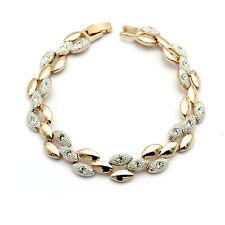 Luxus Damen Armband Bracelet 18K Gold vergoldet Kristall Weihnachtsgeschenk !!!