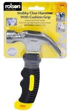Rolson 8oz Stubby Claw Hammer With Rubber Cushion Grip - 10019