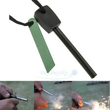 Survival Magnesium Flint Stone Fire Starter Emergency Lighter Kit For Camping US
