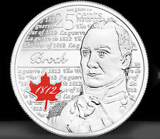 CANADA 2012 WAR OF 1812 - SIR ISAAC BROCK 25¢ COIN 2nd OF SERIES RED IN RCM WRAP