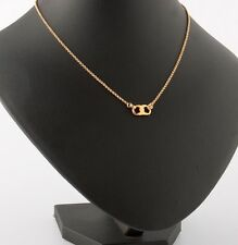 TORY BURCH 16K Shiny Gold-Plated GEMINI Link Thin Necklace NEW SOLD OUT