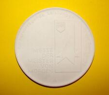Porzellan Medaille FDJ BAUTZEN 1986 Rat des Kreises Messe der Meister von Morgen