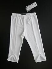 JEAN BOURGET LEGGING COURT BLANC AVEC STRASS 5 ANS LITTLE COUTURE NEUF