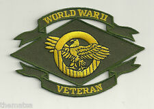 RUPTURED DUCK  WWII ARMY WAR VETERAN EMBROIDERED  PATCH