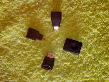 Pack de 4 adaptadores hdmi: hdmi a mini hdmi y micro hdmi, extensión y codo.