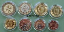 Malta kms todos 8 monedas del euro 2012 con 1 Cent a 2 euros monedas euro Coins moedas