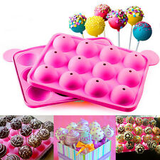 Cake Cookie Chocolate Silicone Lollipop Pop Mold Mould Baking Tray Stick PartyFG