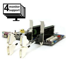 2x Nvidia Video Card Set for 4 Monitors Support DVI  Quad Display PCI-ex16