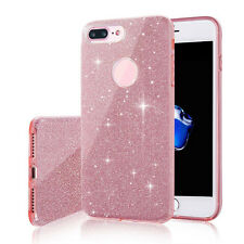 Thin Sparkle Glitter Glossy TPU Plastic Hybrid Case Cover for iPhone 7/6/6s Plus