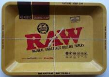Mini RAW Rolling Tray Classic Metal Tray - 18cm x 12.5cm - FREE UK P&P
