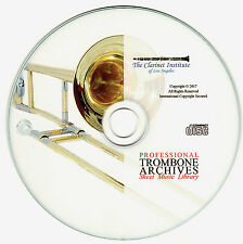 Professional Trombone Sheet Music Archive PDF - CD