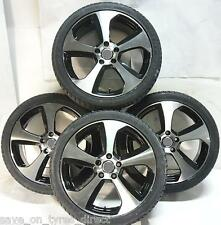 "4 18"" Vw Golf Gti Mk7 Style Wheels and Tyres 2254018 5x112 Black Polished"
