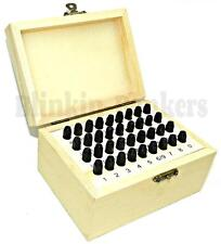 36PC 3MM METAL LETTER & NUMBER STAMP SECURITY POSTCODE PUNCH SET MARKER MARKING