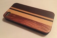 Apple Iphone 4 4S cover case hard back real sandal wood wooden solid oak brown