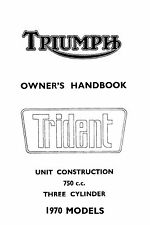 1970 Triumph Trident Owners book