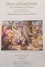 Heaven and Earth Designs A Cofabulation of Dragons Counted Cross Stitch Pattern