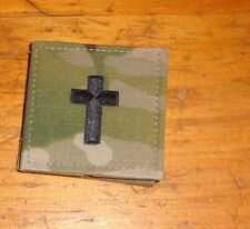 ARMY PATCH, CHRISTIAN CHAPLAIN,RANK TAB , MULTI-CAM,SCORPION W/VELCRO