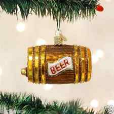 *Beer Keg* Drink College Party [32064] Old World Christmas Glass Ornament - NEW