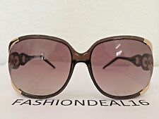 Roberto Cavalli Gerbera Women's Brown Rose Gold Oversized RC589S 48F Sunglasses