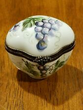 Early Beautiful antique Limoges box with grape and Vines design