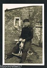 PHOTO vintage FOTO, Schaukelpferd Mann man rocking horse cheval a bascule /102