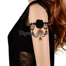 Gothic Lace Rose Flower Armlet Armband Upper Arm Chain Bracelet Drop Jewelry NEW