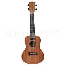 Solid Mahogany Concert Ukulele Uke 23 Inch Hawaiian Guitar With Aquila Strings