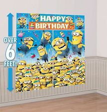 DESPICABLE ME SCENE SETTER Happy Birthday Party Wall Decoration MINIONS Backdrop