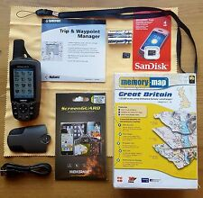 Garmin GPSMAP 60CSx + OSM all of G.B 1:50K Scale + Contours Maps 2015 Preloaded
