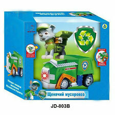 1pc PAW PUPPY PATROL Vehicle Car with light and music Action Figure Toy -- Rocky
