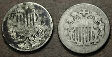 1882 & Dateless Shield Nickels, Rare coins! n210