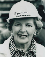 Margaret Thatcher Hand Signed Prime Minister Photo 10x8 Very Rare.
