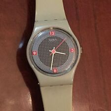 Swatch Pirelli GM101 Gray Analog Watch Retro 1984 Colelction