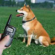 Pet Dog Stop Barking Collar  Remote Control Training Collars LCD Display Safe hy