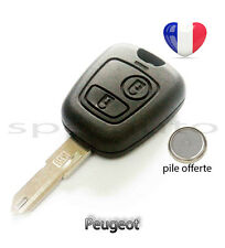 plip coque clé Peugeot 106 206 206+ 206CC 306 107 207 307 2 boutons + pile