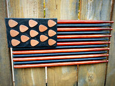 JULY 4th AMERICAN FLAG Made of Wood Drumsticks, Guitar Picks & Leather