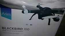 Aries BlackBird X10 Drone  Quadcopter, built in 16MP Still/Cine Camera Flawless