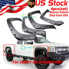 For 99-06 Chevy Silverado GMC Sierra Pocket Style Bolt On Rivet Fender Flares US