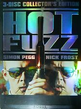 HOT FUZZ (2007) Three-Disc Collector's Edition Set 5+ Hours of Bonus Features