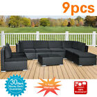Wicker Rattan Garden Set Indoor Outdoor Sofa Lounge couch Setting Furniture