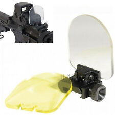 Foldable Lens Protector For Airsoft Tactical Scope Red Dot Cover w/2 Spare Lens