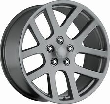 "(4) 24"" 24x10 SRT10 Style Fits 2002 - Up Dodge Ram 1500 Wheels Rims Gray Grey"
