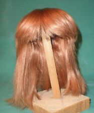 "doll wig/ human hair 11.5"" to 12"" strawberry blond, shoulder length"